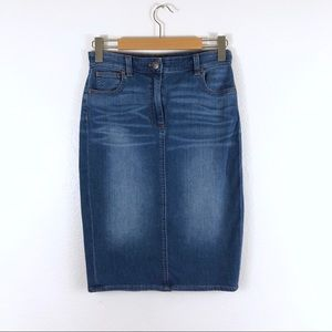 J. Crew Indigo Denim Pencil Skirt A0631